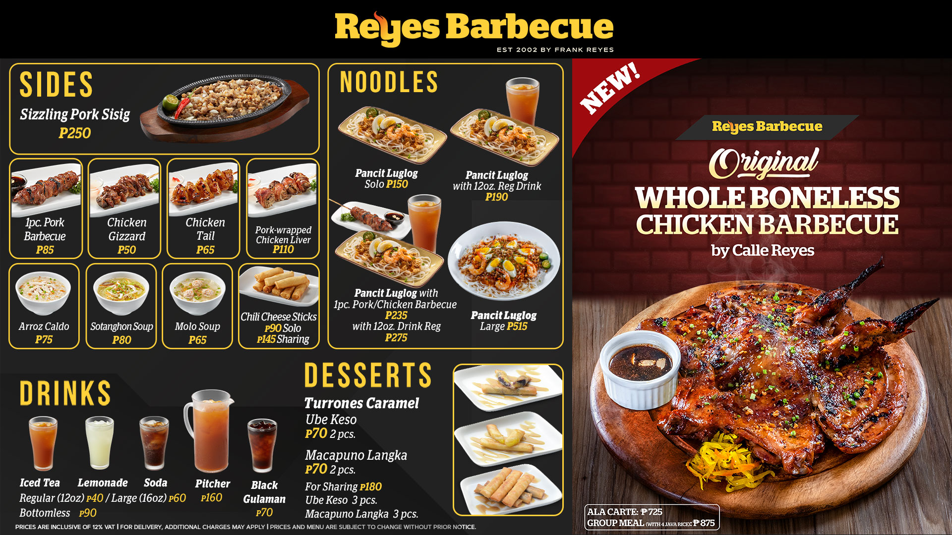 Reyes Barbecue Sides